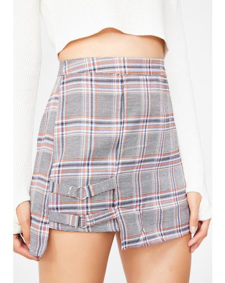 Do Better Plaid Skirt