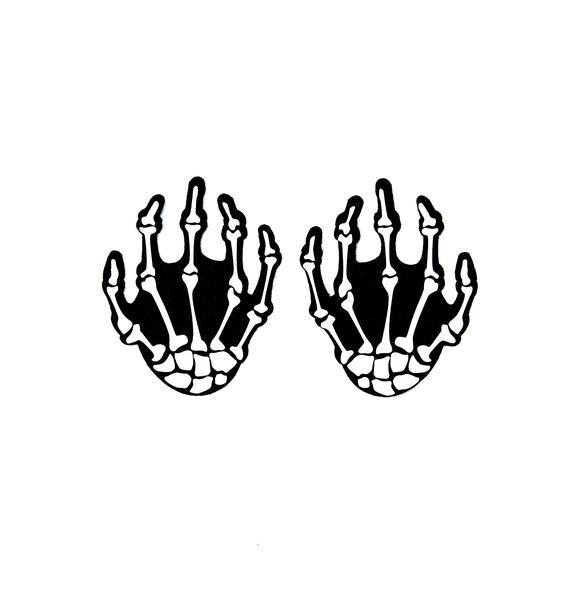 Pastease White Boney Skeleton Hand Pasties