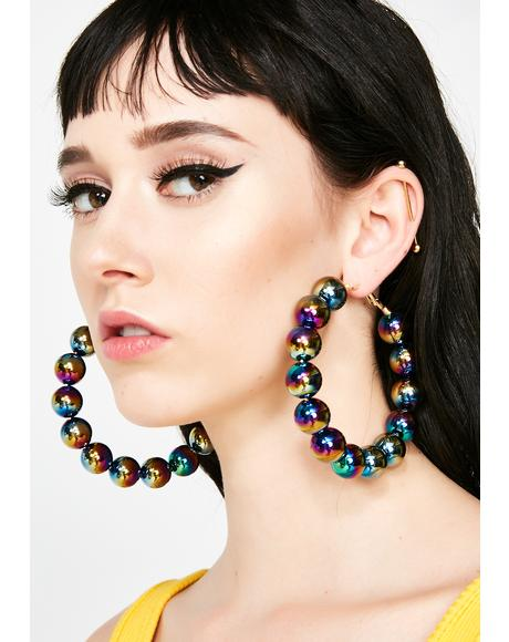 Love Beads Hoop Earrings