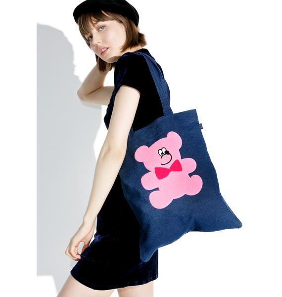 Lazy Oaf Fur Bear Tote Bag