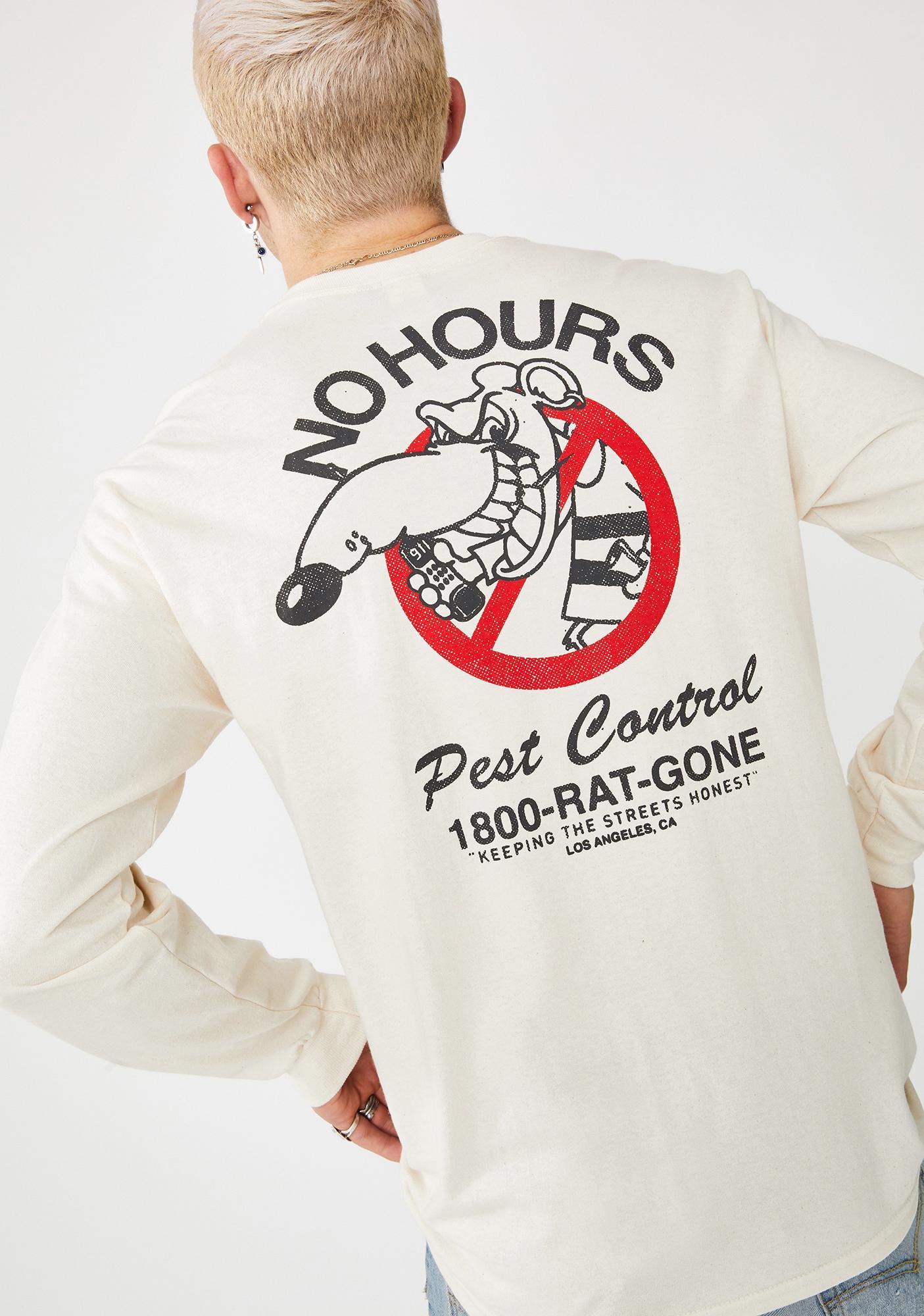 No Hours Rat Gone Long Sleeve Tee
