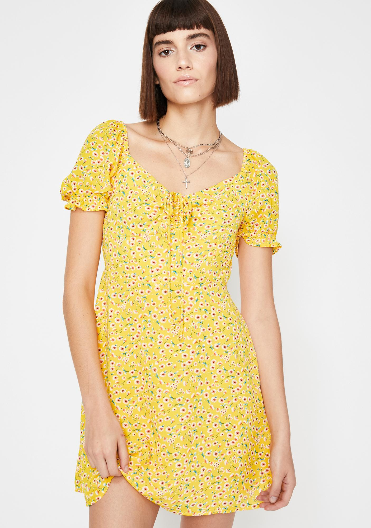 Sunny Bloom Estate Floral Dress