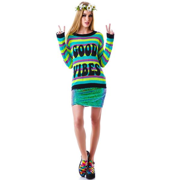Mink Pink Good Vibes Jumper