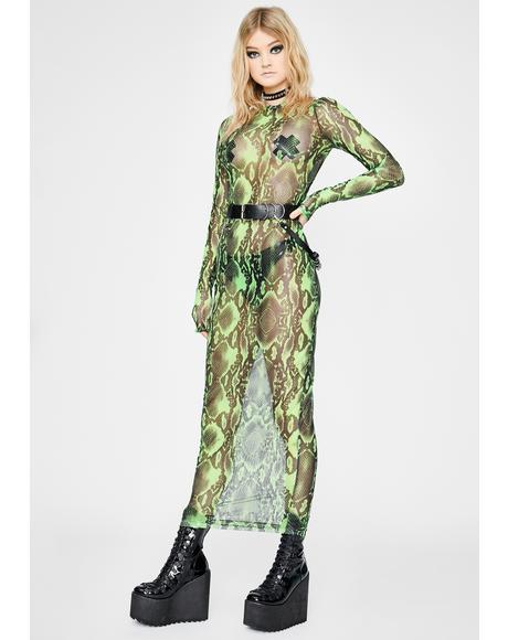 Anaconda Mesh Dress