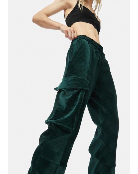 Cuffed Cargo Track Pants