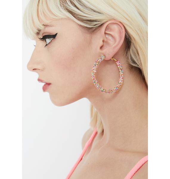 Sassy Sparkle Hoop Earrings