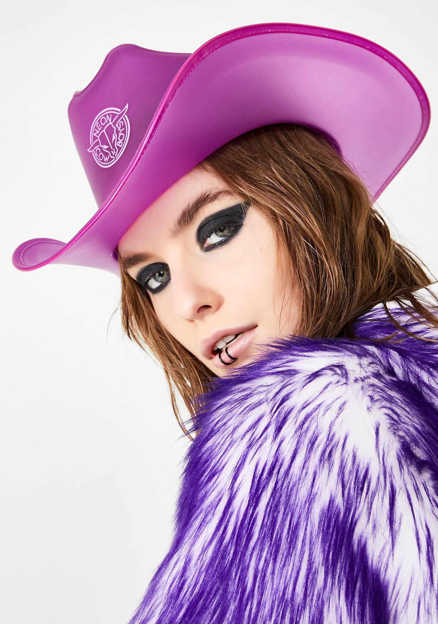 b2bd13bb3 Fantasy Purple Light Up Cowboy Hat