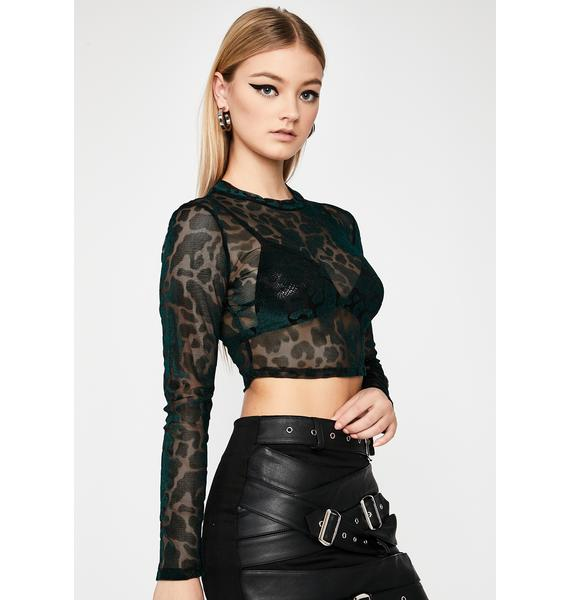 Forest Burnt Love Crop Top