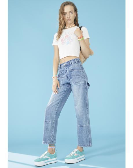 Day Trip Wide Leg Jeans
