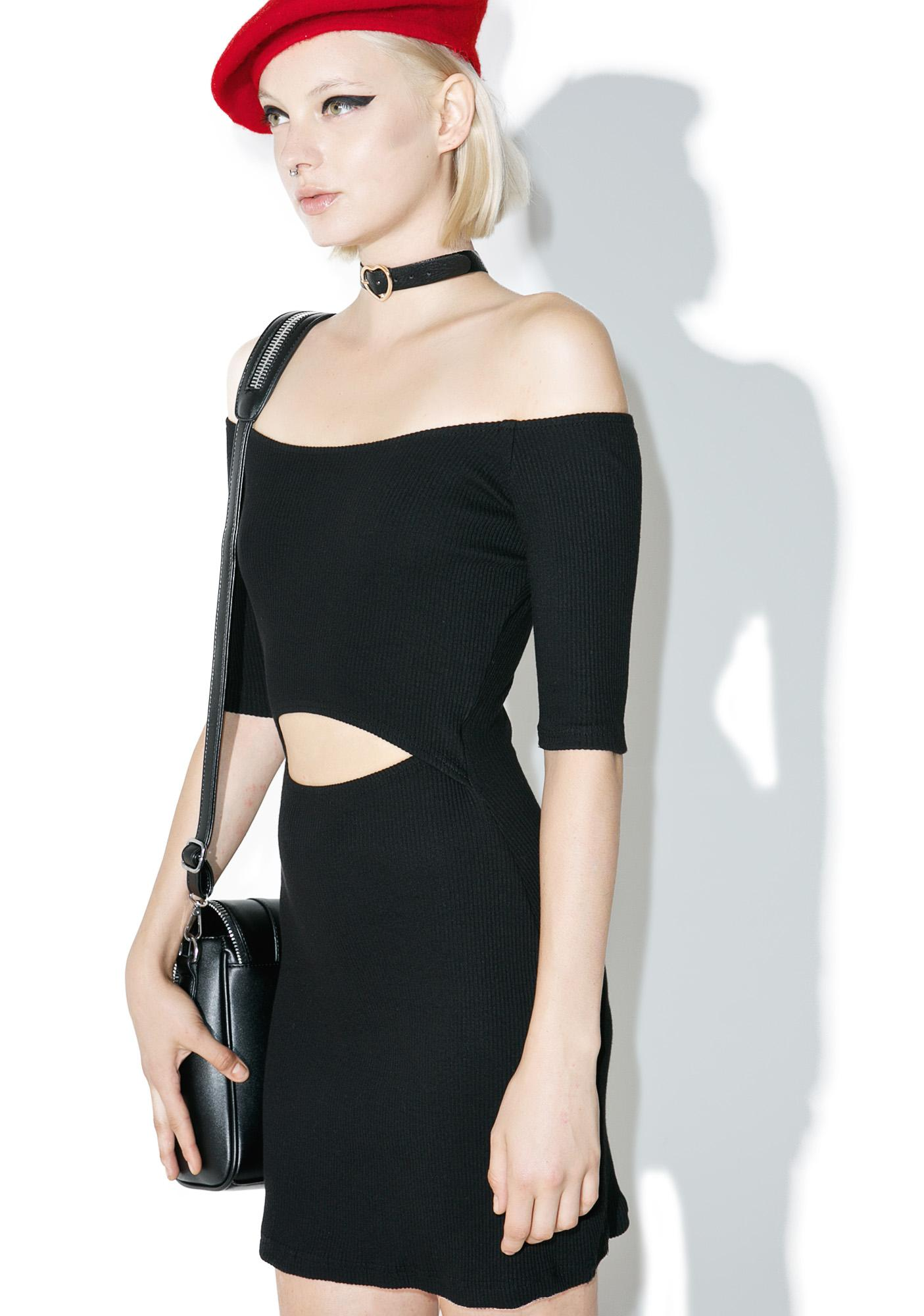 one spo Heart Choker Mini Dress