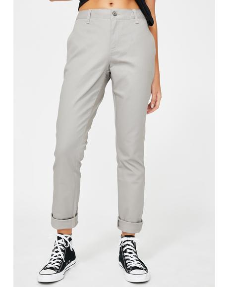 Silver Original Skinny Fit Twill Worker Pants