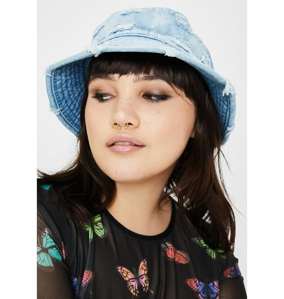 Give It Up Denim Bucket Hat