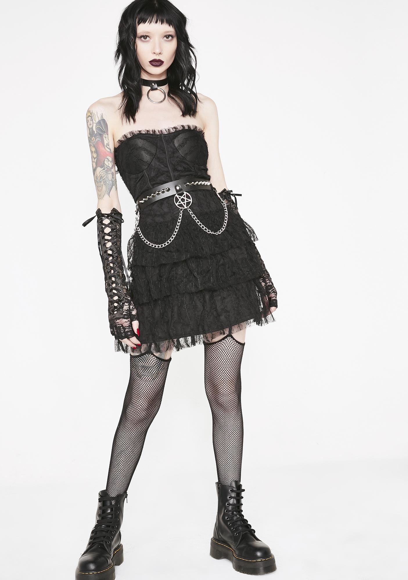 Gothic Charm School Mini Dress
