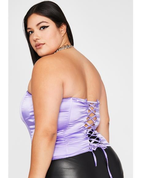 I'd Never Leave Ya Corset Top