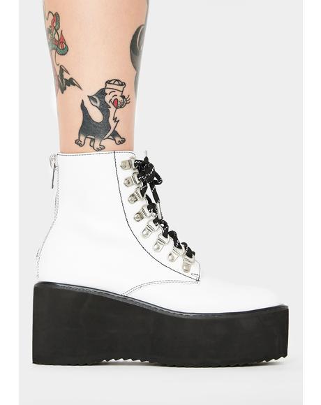 Think Twice Platform Boots