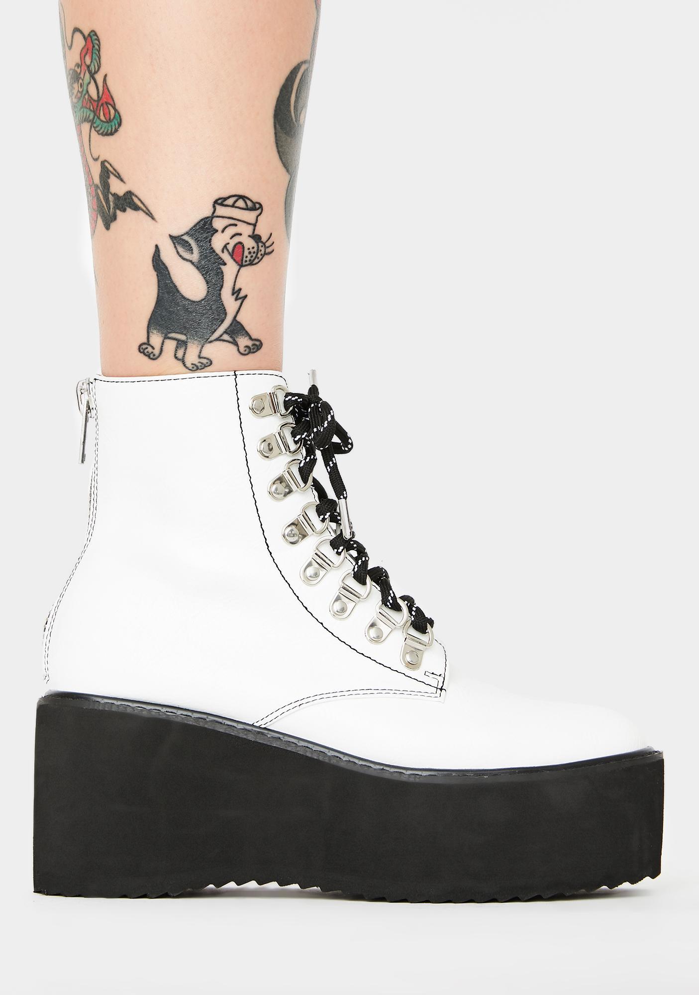 Current Mood Think Twice Platform Boots