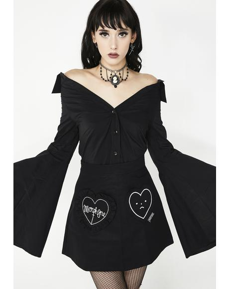 Dark Throne Off-The-Shoulder Top
