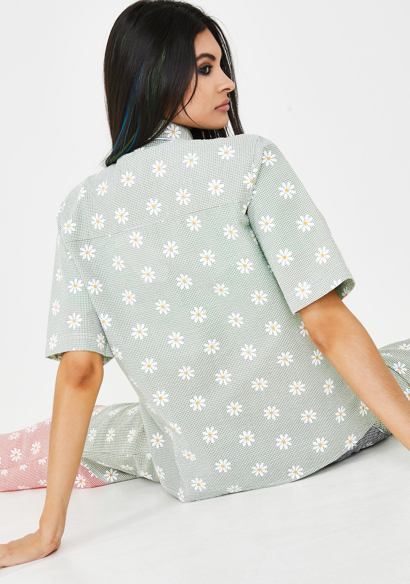 Somewhere Nowhere Daisy Print Pocket Shirt