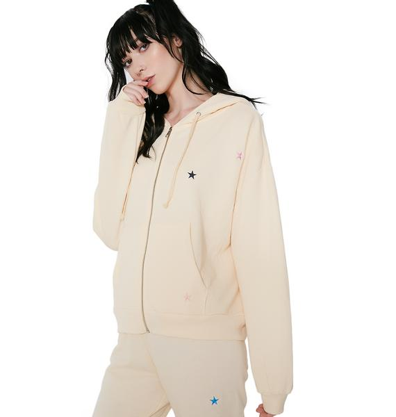 Wildfox Couture Starlet Embroidery Zip Hoodie