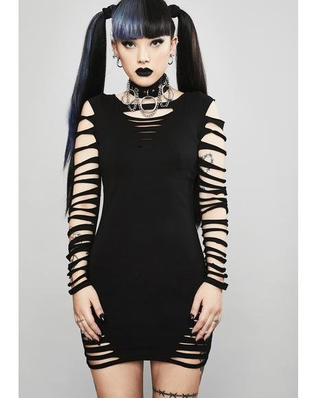 Portal To Hell Shredded Dress