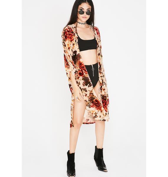 Autumn Dream Velvet Kimono