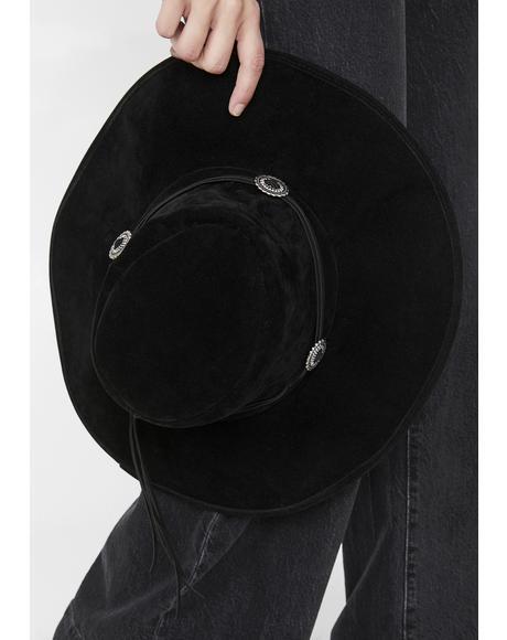 Noir Explore Your Mind Wide Brim Hat