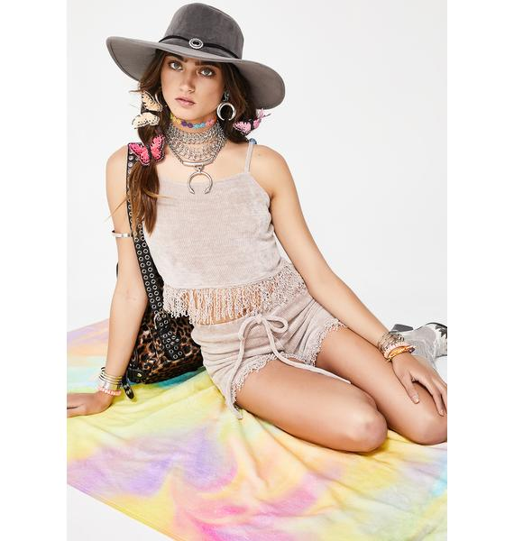 Different Beat Fringe Top