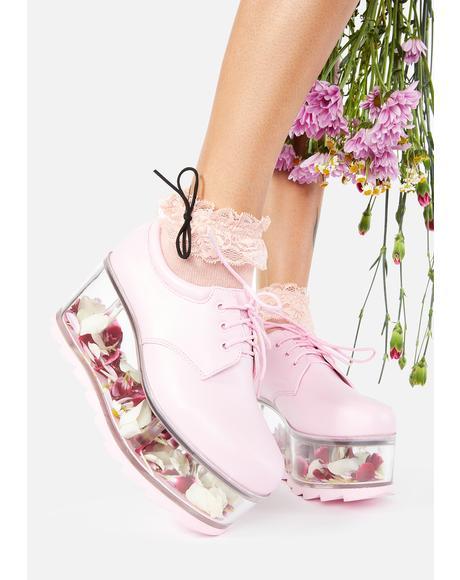 Baby Pink Qloud 2091 Platform Sneakers