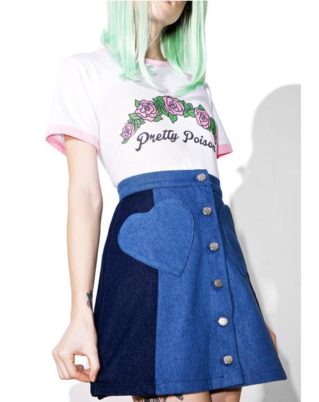 Denim Heart Skirt