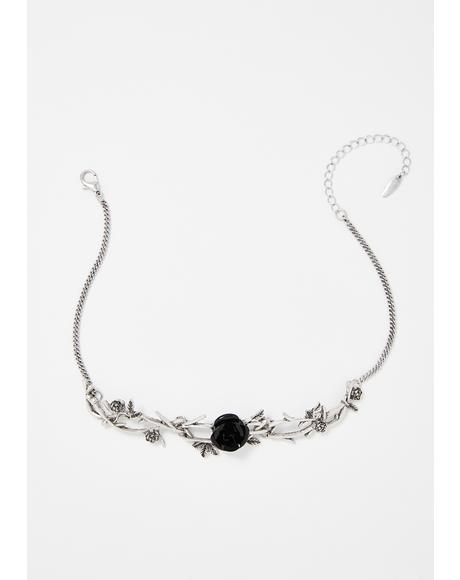 Departed Darling Rose Choker