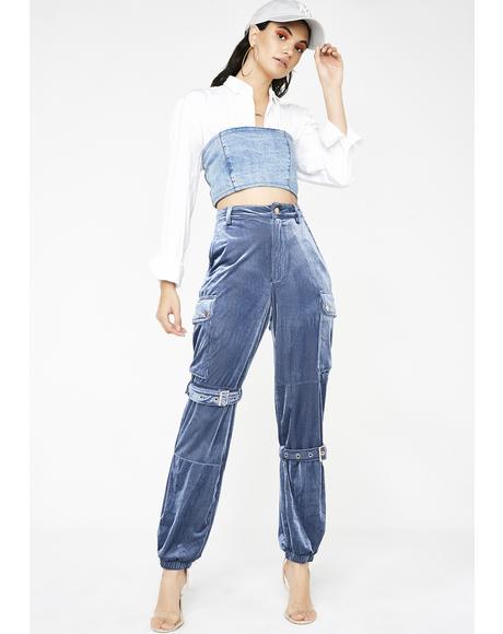 Fashion Mode Corduroy Pants