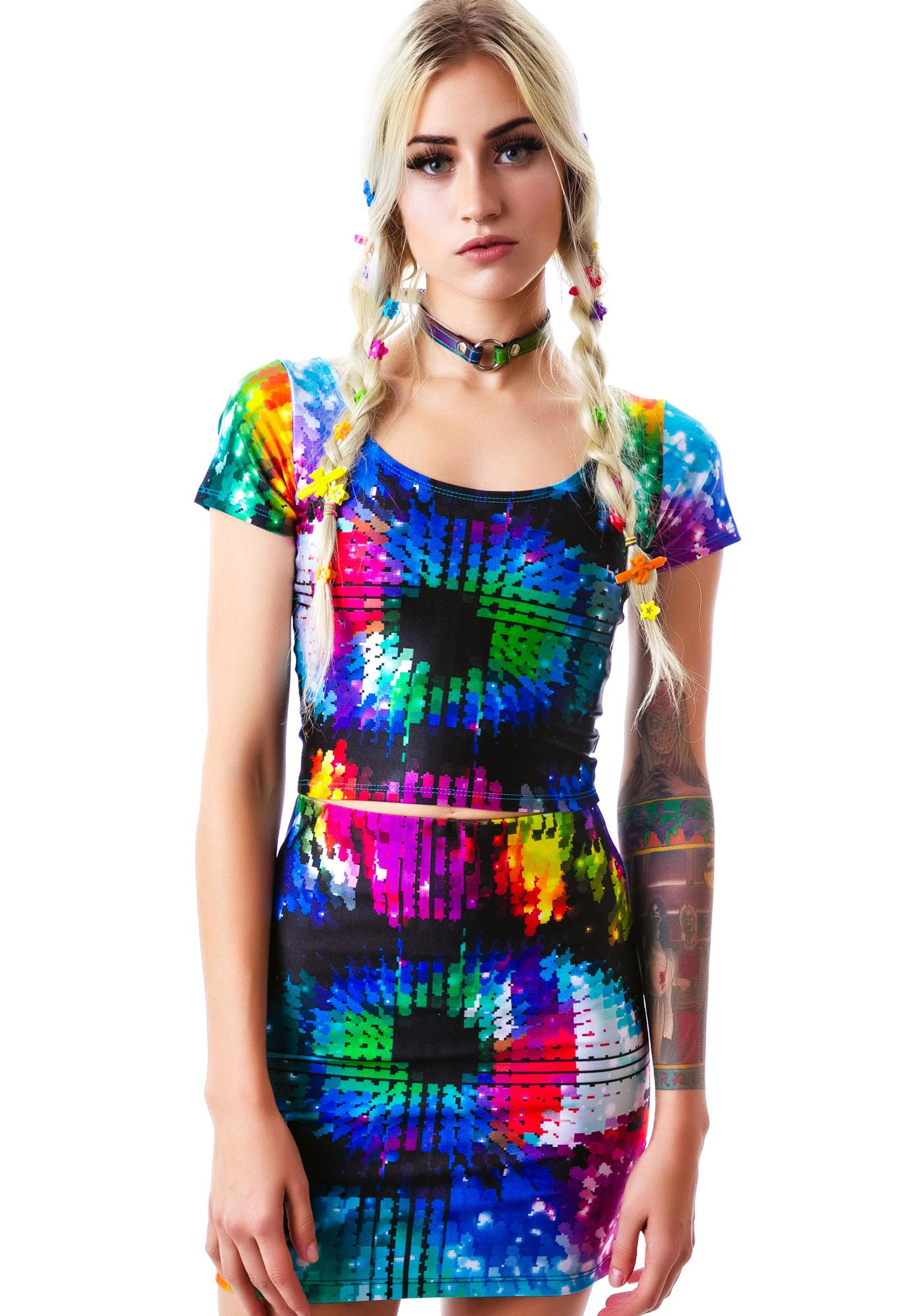 Zara Terez Magic Eye Mini Skirt