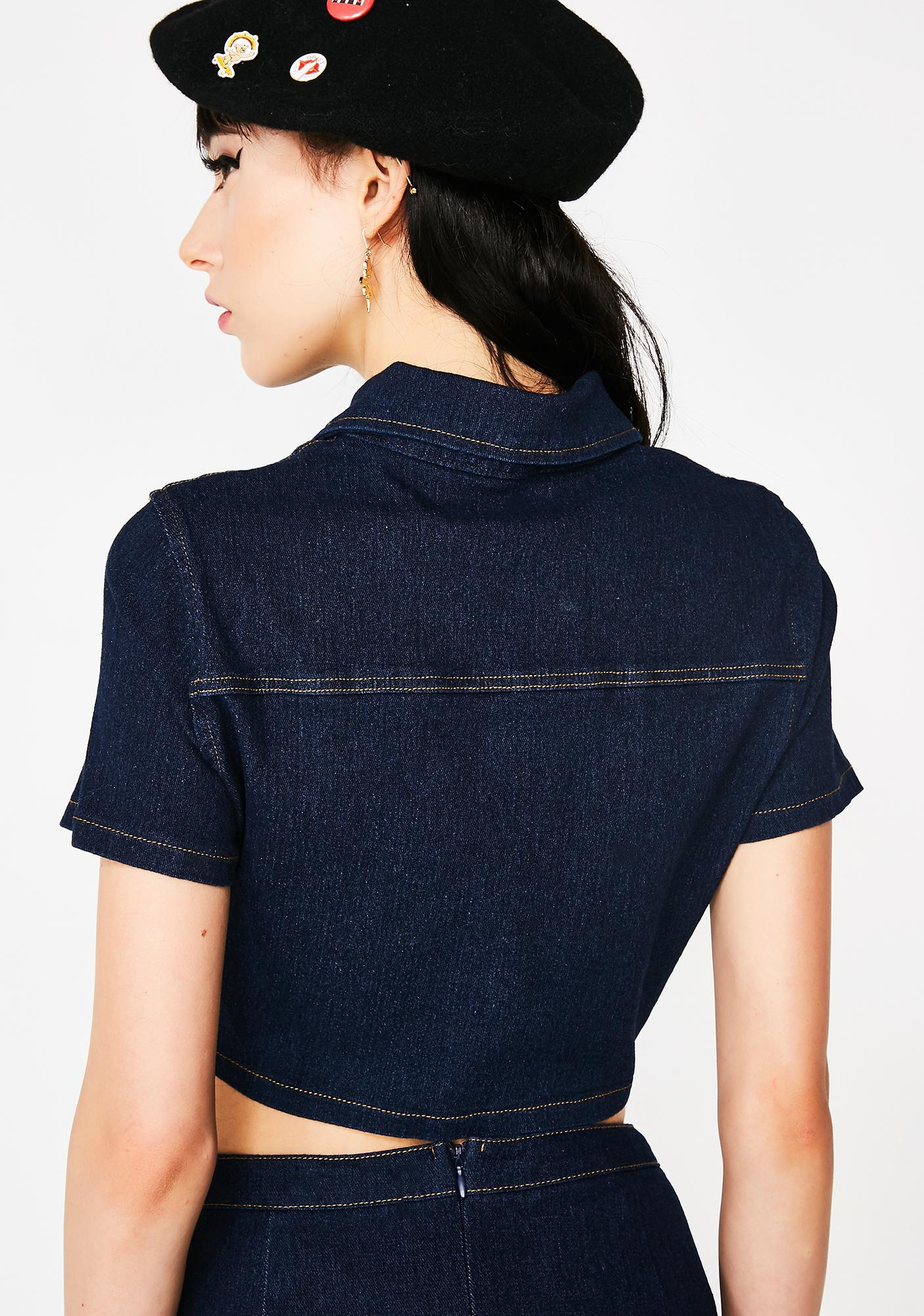 Fly Chick Denim Top