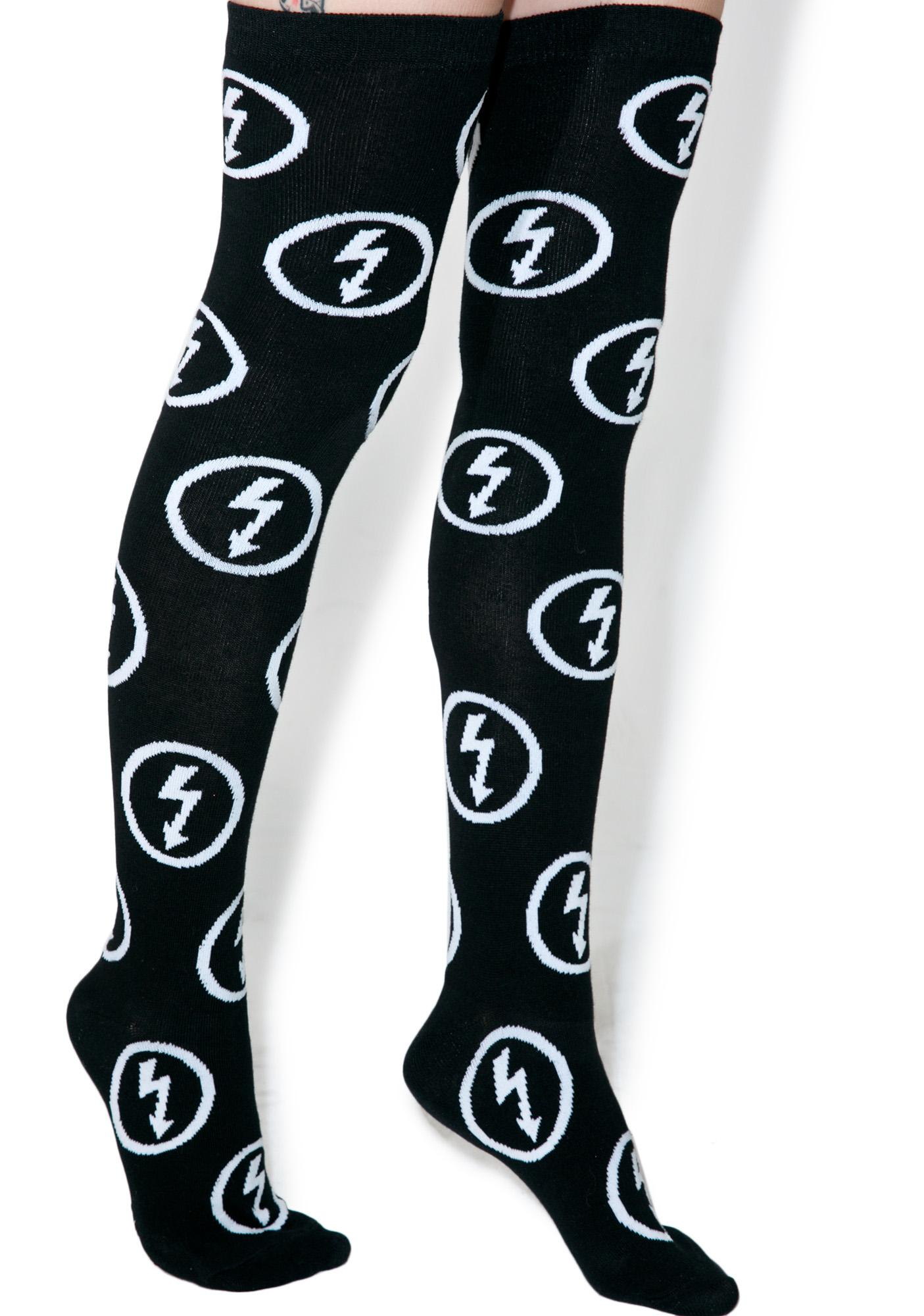 Killstar Bolt Superstar Long Socks