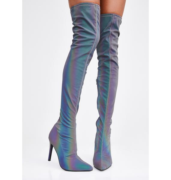 Poster Grl Million Mile Reflective Thigh Highs