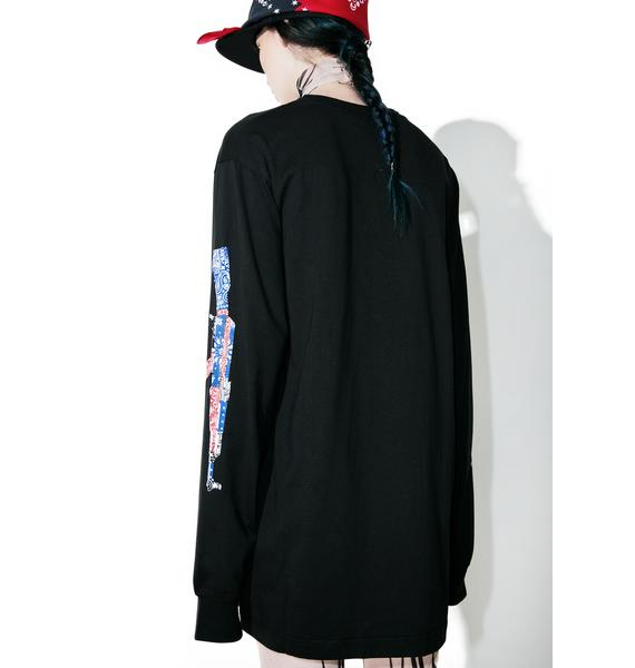 Black Scale Abtomat Paisley Long Sleeve Tee
