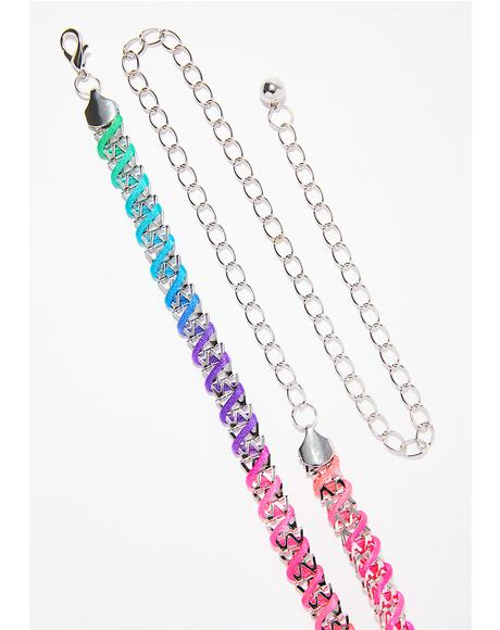 Candy Coated Chain Belt