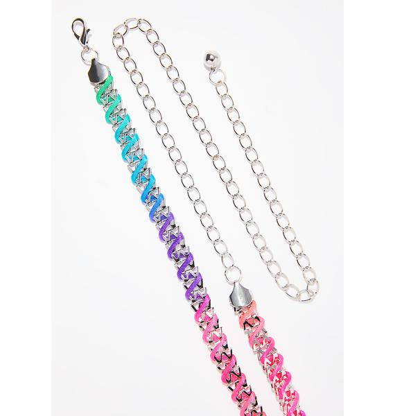 Candy Coated Chain Belt