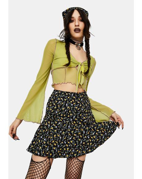 Flowing Flower Gaelle Mini Skirt