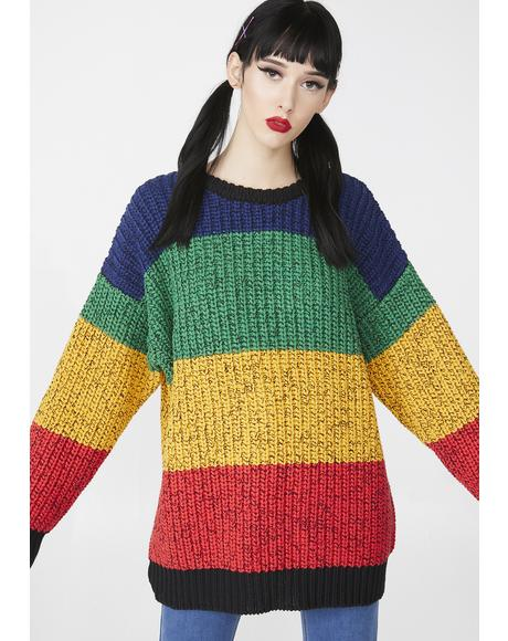 ad5658ccab8 Rainbow Knitted Jumper Rainbow Knitted Jumper ...