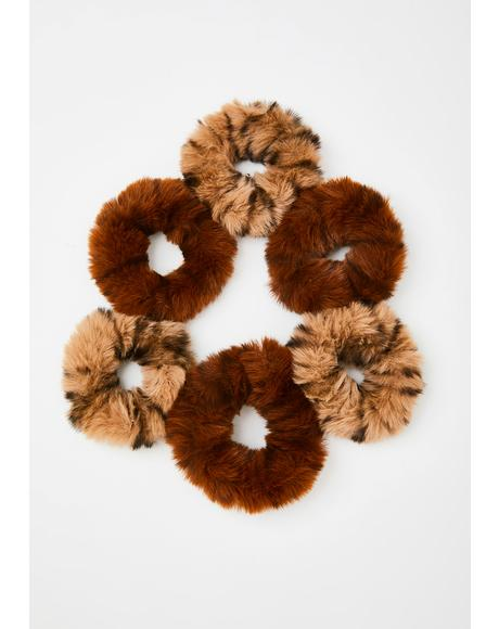 Fuzzy Fiend Scrunchie Set