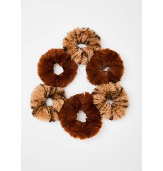 Fuzzy Fiend Scrunchie Set