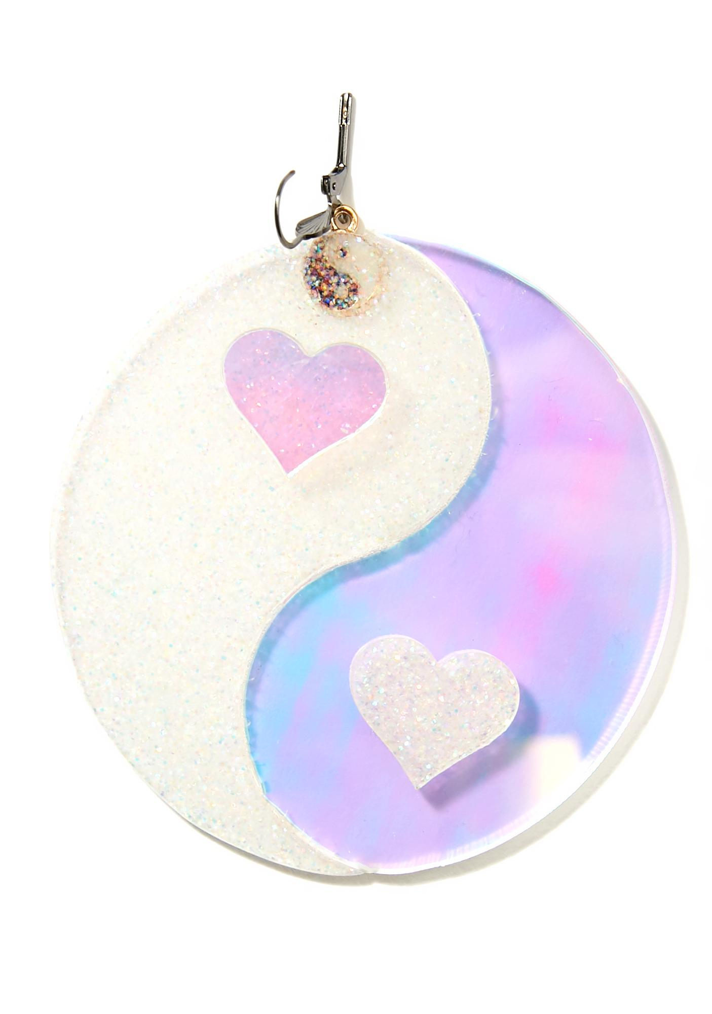 Marina Fini Yin Yang Hearts Earrings