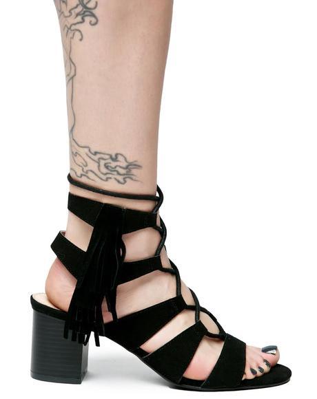 Dune Baby Fringe Sandals