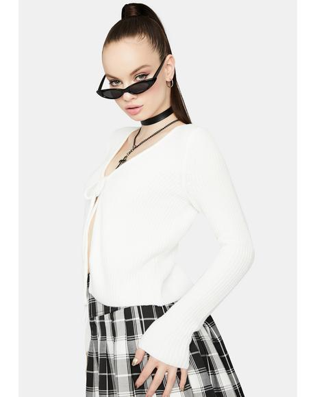 Ivory Such A Softie Knit Cardigan