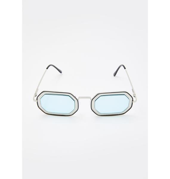 Tidal Zone Oval Sunglasses
