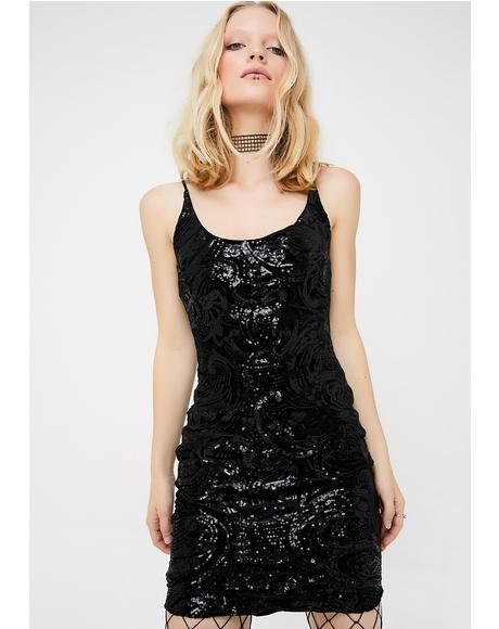 Broken Resolutions Sequin Dress