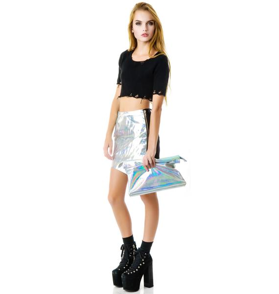 UNIF Hologram Realm Clutch