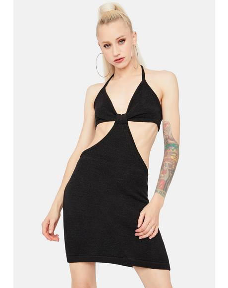 Noir Lost In The Crowd Cut Out Mini Dress