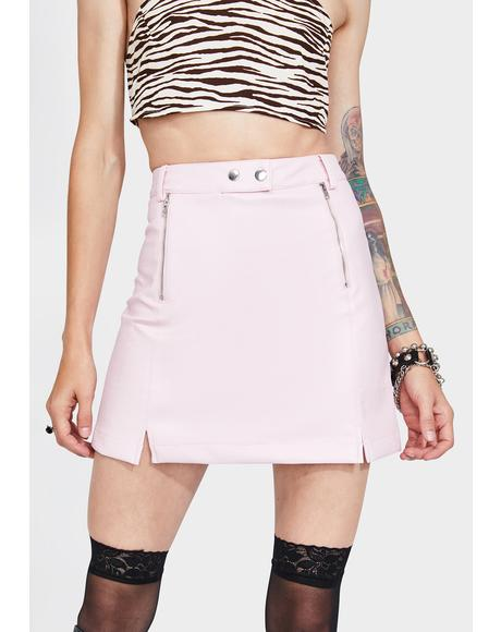 Pink Royce Mini Skirt
